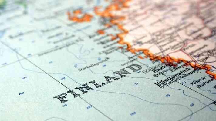 フィンランドの地図
